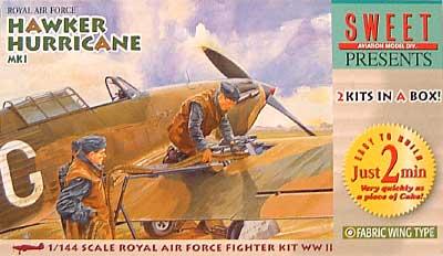 ホーカー ハリケーン Mk1 (ファブリック ウイング)プラモデル(SWEET1/144スケールキットNo.002)商品画像