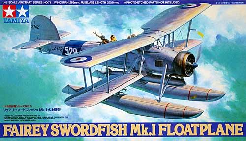 フェアリー ソードフィッシュ Mk.1 水上機型プラモデル(タミヤ1/48 傑作機シリーズNo.071)商品画像