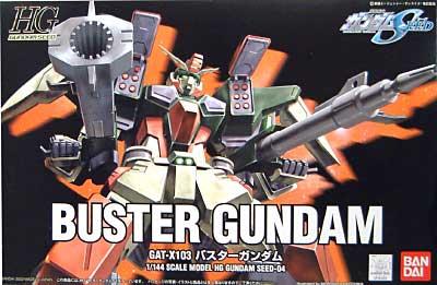 GAT-X103 バスターガンダムプラモデル(バンダイ1/144 HG 機動戦士ガンダムSEEDNo.004)商品画像