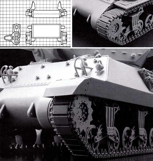 M4シャーマン戦車用履帯 T51型 (可動式)プラモデル(モデルカステン連結可動履帯 SKシリーズNo.SK-055)商品画像_1