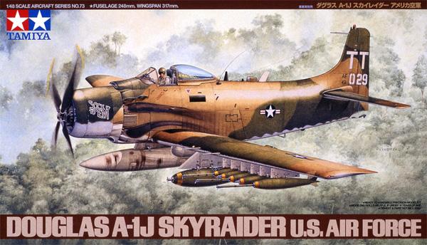 ダグラス A-1J スカイレーダー アメリカ空軍プラモデル(タミヤ1/48 傑作機シリーズNo.073)商品画像