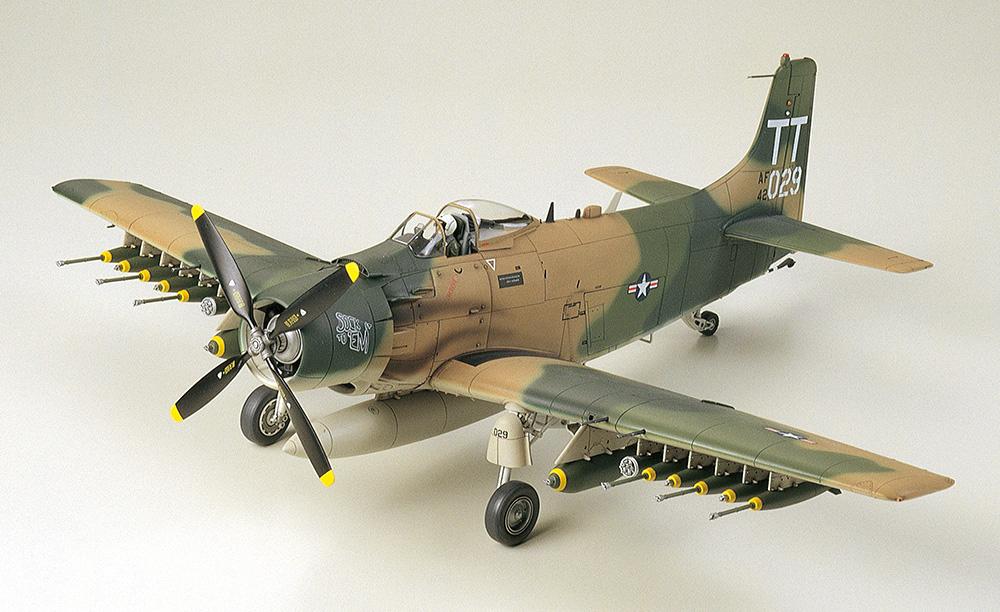 ダグラス A-1J スカイレーダー アメリカ空軍プラモデル(タミヤ1/48 傑作機シリーズNo.073)商品画像_2