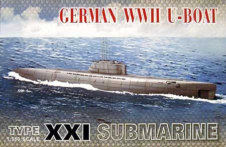 ドイツ海軍 潜水艦 Uボート タイプ 21プラモデル(AFV CLUB1/350 潜水艦No.SE73501)商品画像