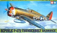タミヤ1/48 傑作機シリーズリパブリック P-47D サンダーボルト レイザーバック