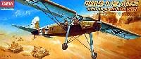 アカデミー1/72 Aircraftsフィーゼラー Fi.156 シュトルヒ アフリカ戦線 キューベルワーゲン付