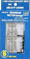 トランペッター1/350 航空母艦用エアクラフトセットグラマン TBF/TBM アベンジャー