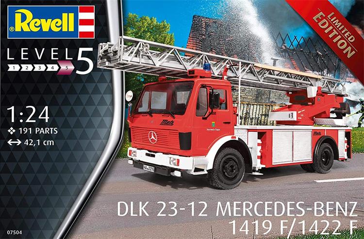 DLK 23-12 メルセデスベンツ 1419F/1422F 消防車プラモデル(レベルカーモデルNo.07504)商品画像