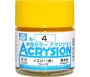 イエロー (黄)(光沢) (N-4)塗料(GSIクレオス水性カラー アクリジョンNo.N-004)商品画像