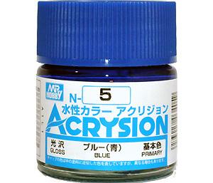 ブルー (青) (光沢) (N-5)塗料(GSIクレオス水性カラー アクリジョンNo.N-005)商品画像