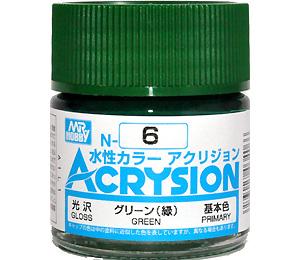 グリーン (緑) (光沢) (N-6)塗料(GSIクレオス水性カラー アクリジョンNo.N-006)商品画像