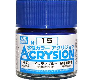 インディブルー (光沢) (N-15)塗料(GSIクレオス水性カラー アクリジョンNo.N-015)商品画像