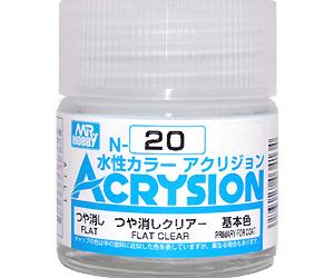 つや消しクリアー (つや消し) (N-20)塗料(GSIクレオス水性カラー アクリジョンNo.N-020)商品画像
