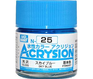 スカイブルー (光沢) (N-25)塗料(GSIクレオス水性カラー アクリジョンNo.N-025)商品画像