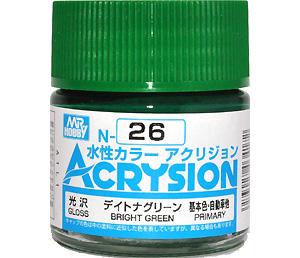 デイトナグリーン (光沢) (N-26)塗料(GSIクレオス水性カラー アクリジョンNo.N-026)商品画像
