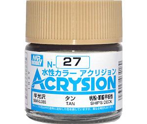 タン (半光沢) (N-27)塗料(GSIクレオス水性カラー アクリジョンNo.N-027)商品画像