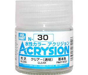 クリアー (透明) (光沢) (N-30)塗料(GSIクレオス水性カラー アクリジョンNo.N-030)商品画像