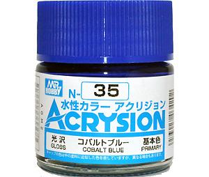 コバルトブルー (光沢) (N-35)塗料(GSIクレオス水性カラー アクリジョンNo.N-035)商品画像