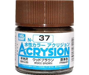 ウッドブラウン (半光沢) (N-37)塗料(GSIクレオス水性カラー アクリジョンNo.N-037)商品画像