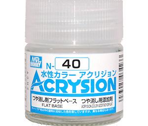 つや消し剤 フラットベース (つや消し用添加剤) (N-40)塗料(GSIクレオス水性カラー アクリジョンNo.N-040)商品画像
