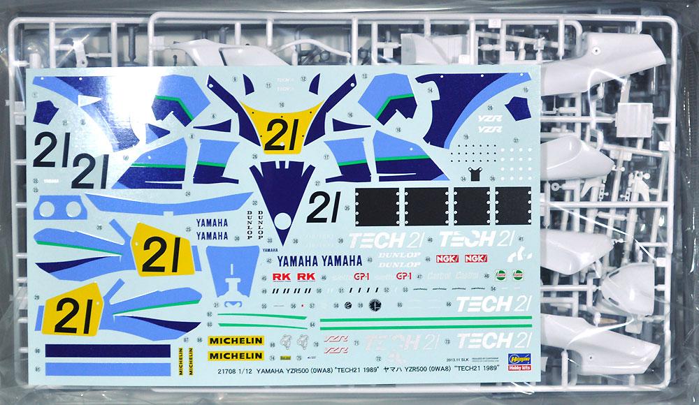 ヤマハ YZR500 (OWA8) TECH 21 1989プラモデル(ハセガワ1/12 バイクシリーズNo.21708)商品画像_1