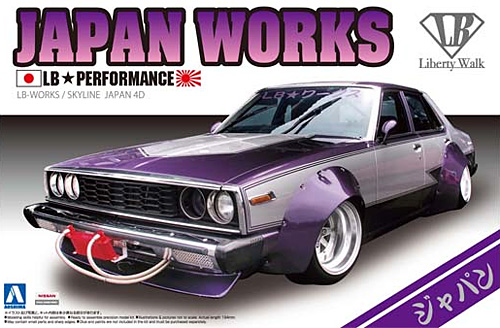 LBワークス ジャパン 4Drプラモデル(アオシマ1/24 リバティーウォークNo.001)商品画像