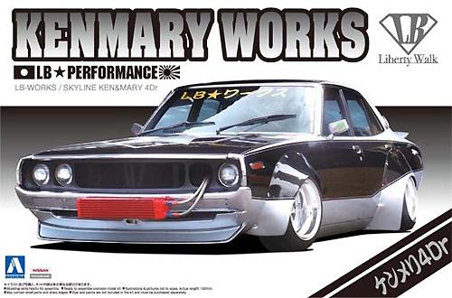 LB ワークス ケンメリ 4Drプラモデル(アオシマ1/24 リバティーウォークNo.003)商品画像
