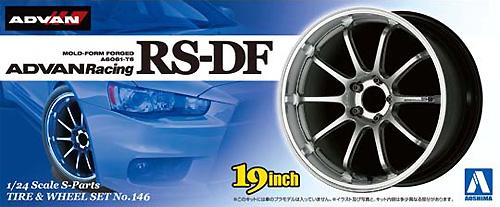 アドバンレーシング RS-DFプラモデル(アオシマ1/24 Sパーツ タイヤ&ホイールNo.146)商品画像