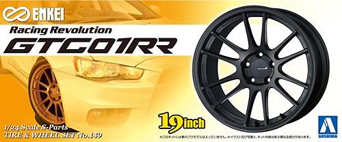 エンケイ GTC 01RRプラモデル(アオシマ1/24 Sパーツ タイヤ&ホイールNo.149)商品画像