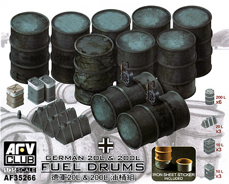 ドイツ 20L 燃料缶 & 200L ドラム缶セットプラモデル(AFV CLUB1/35 AFV シリーズNo.AF35266)商品画像