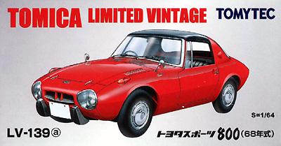 トヨタ スポーツ 800 (68年式) (赤)ミニカー(トミーテックトミカリミテッド ヴィンテージNo.LV-139a)商品画像