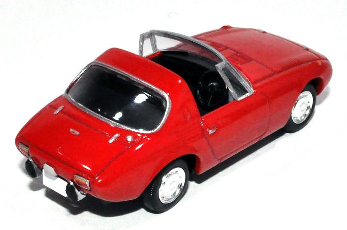 トヨタ スポーツ 800 (68年式) (赤)ミニカー(トミーテックトミカリミテッド ヴィンテージNo.LV-139a)商品画像_3