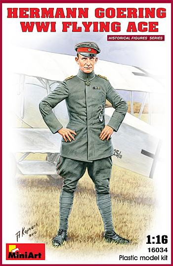 ヘルマン・ゲーリング (WW1 エースパイロット)プラモデル(ミニアート1/16 ヒストリカルフィギュアNo.16034)商品画像