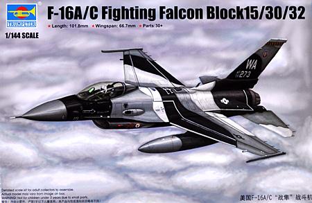 F-16A/C ファイティング ファルコン ブロック15/30/32プラモデル(トランペッター1/144 エアクラフトシリーズNo.03911)商品画像