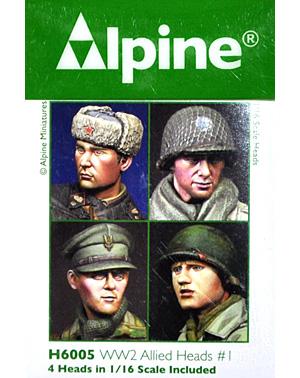 WW2 連合軍ヘッドセット #1レジン(アルパイン1/16 アクセサリーNo.AMH6005)商品画像