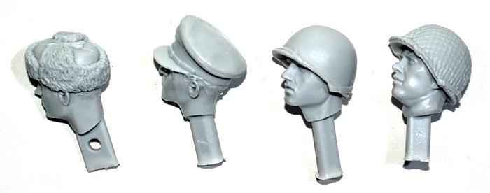 WW2 連合軍ヘッドセット #1レジン(アルパイン1/16 アクセサリーNo.AMH6005)商品画像_1