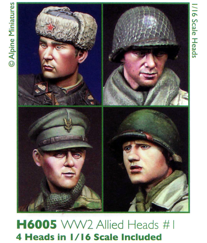WW2 連合軍ヘッドセット #1レジン(アルパイン1/16 アクセサリーNo.AMH6005)商品画像_2