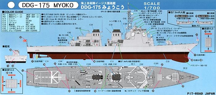 海上自衛隊 イージス護衛艦 DDG-175 みょうこうプラモデル(ピットロード1/700 スカイウェーブ J シリーズNo.J-064)商品画像_1