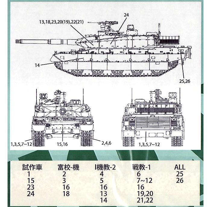陸上自衛隊 10式戦車用 デカールデカール(フォックスモデル (FOX MODELS)AFVデカールNo.D035013)商品画像_2