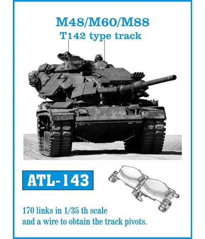 M48/M60/M88 T142型 履帯メタル(フリウルモデル1/35 金属製可動履帯シリーズNo.ATL143)商品画像