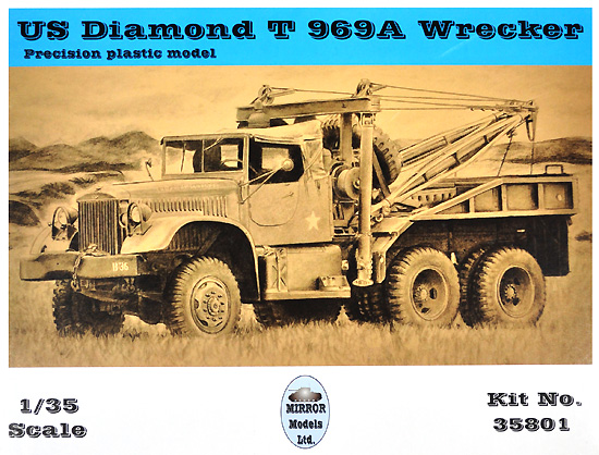 ダイヤモンド T969A レッカープラモデル(ミラーモデルズ1/35 AFVモデルNo.35801)商品画像