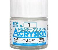 GSIクレオス水性カラー アクリジョンホワイト (白) (N-1)