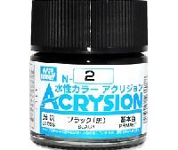 GSIクレオス水性カラー アクリジョンブラック (黒) (光沢) (N-2)