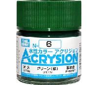 GSIクレオス水性カラー アクリジョングリーン (緑) (光沢) (N-6)