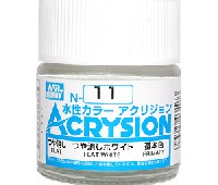 GSIクレオス水性カラー アクリジョンつや消しホワイト (つや消し) (N-11)