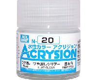 GSIクレオス水性カラー アクリジョンつや消しクリアー (つや消し) (N-20)
