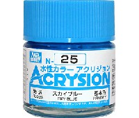 GSIクレオス水性カラー アクリジョンスカイブルー (光沢) (N-25)