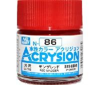 GSIクレオス水性カラー アクリジョンモンザレッド (光沢) (N-86)