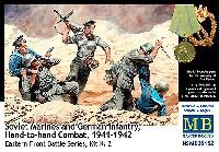 マスターボックス1/35 ミリタリーミニチュア独ソ白兵戦 ソビエト海軍 陸戦隊 vs ドイツ兵 1941-42 (東部戦線シリーズ No.2)