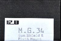 11201/35 AFVアクセサリーMG34 アーマーシールド & ピポッドセット