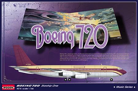 ボーイング 720 スターシップワンプラモデル(ローデン1/144 エアクラフトNo.314)商品画像